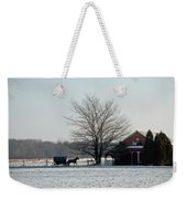 Amish Buggy And Old School Weekender Tote Bag