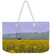 Amish Buggy And Yellow Field Weekender Tote Bag