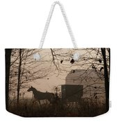 Amish Buggy Fall Weekender Tote Bag