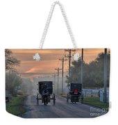 Amish Buggy Sunday Morning Weekender Tote Bag