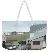 Amish Children Walk To The Barn Weekender Tote Bag