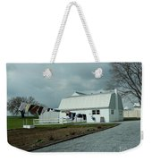 Amish Clothesline And A Barn Weekender Tote Bag