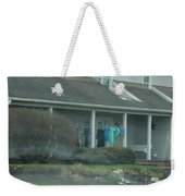 Amish Clothing Hanging To Dry Weekender Tote Bag