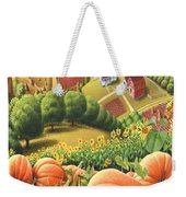 Amish Country - Pumpkin Patch Country Farm Landscape Weekender Tote Bag
