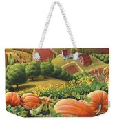 Amish Country T Shirt - Pumpkin Patch Country Farm Landscape 2 Weekender Tote Bag