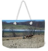 Amish Farming Weekender Tote Bag