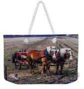 Amish Farming Team Weekender Tote Bag