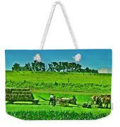 Amish Gathering Hay Weekender Tote Bag