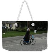 Amish Girl Going To Work Weekender Tote Bag