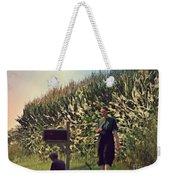Amish Girls Watermelon Break Weekender Tote Bag