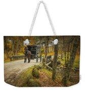 Amish Horse And Buggy Crossing A Bridge Weekender Tote Bag