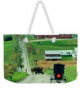 Amish Horse And Buggy Farm Weekender Tote Bag