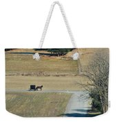 Amish Horse And Buggy On A Country Road Weekender Tote Bag