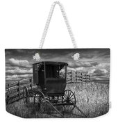 Amish Horse Buggy In Black And White Weekender Tote Bag