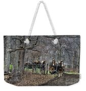Amish Horses In Harness Weekender Tote Bag
