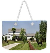 Amish House Weekender Tote Bag