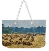 Amish Making Grain Shocks Weekender Tote Bag