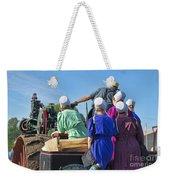 Amish On Steam Engine Weekender Tote Bag