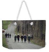 Amish People Visiting Middle Creek Weekender Tote Bag
