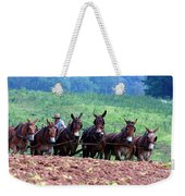 Amish Plowing The Fields With Mules Weekender Tote Bag