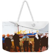 Amish Watching A Nuclear Reactor Go By 2 Weekender Tote Bag