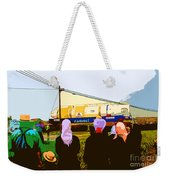 Amish Watching A Nuclear Reactor Go By Weekender Tote Bag