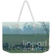 Amish Watching A Volleyball Game Weekender Tote Bag