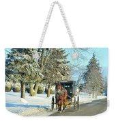 Amish Winter Weekender Tote Bag by David Arment