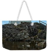 Amphitrite Point Lighthouse Reflections Weekender Tote Bag
