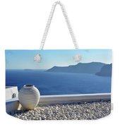 Amphora In Santorini, Greece Weekender Tote Bag