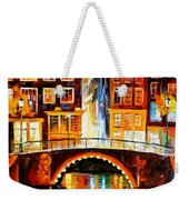 Amsterdam - Little Bridge Weekender Tote Bag