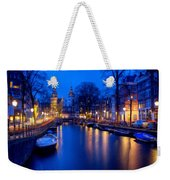 Amsterdam - A Canal Scene At Night . L B Weekender Tote Bag