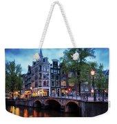 Amsterdam At Twilight Weekender Tote Bag
