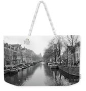 Amsterdam Canal Black And White 2 Weekender Tote Bag