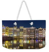 Amsterdam Canal Houses At Night Weekender Tote Bag