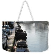 Amsterdam Canal In Winter Weekender Tote Bag