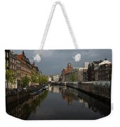 Amsterdam - Singel Canal With The Floating Flower Market Weekender Tote Bag
