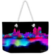 Amsterdam Skyline - Pink Blue Weekender Tote Bag