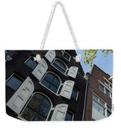 Amsterdam Spring - Arched Windows And Shutters - Right Weekender Tote Bag
