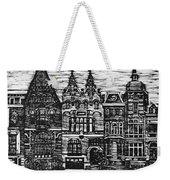 Amsterdam Woodcut Weekender Tote Bag
