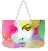 Amy Portrait Pink Yellow  Weekender Tote Bag
