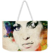 Amy Winehouse Colorful Portrait Weekender Tote Bag