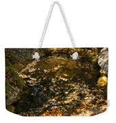 An Abstract Fall Reflection Weekender Tote Bag