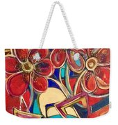 An Abstract Floral Weekender Tote Bag