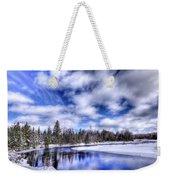 An Adirondack Winter Weekender Tote Bag