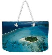 An Aerial View Of Saipan Island Weekender Tote Bag