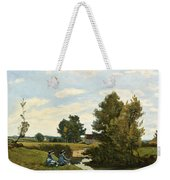 An Afternoon Along The Loing Near Saint-prive Weekender Tote Bag