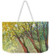 An Afternoon At The Park Weekender Tote Bag by Jennifer Lommers