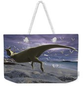 An Albino Carnotaurus Surprising Weekender Tote Bag