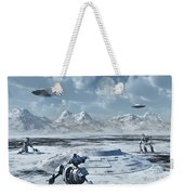 An Alien Base Located In The Antarctic Weekender Tote Bag